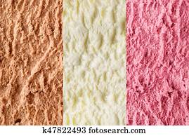 Neapolitan ice cream background