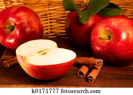 Apples, cinnamon