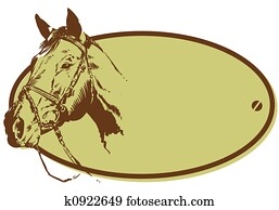 Horse Riding Club Style Banner Illustration