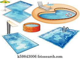 A set of swimming pool