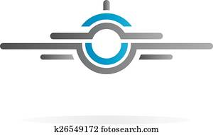 Airplane vector logo