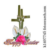 Easter Cross Graphic isolated