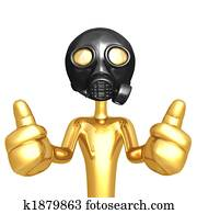 Gas Mask Two Thumbs Up