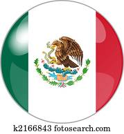 button with flag mexico