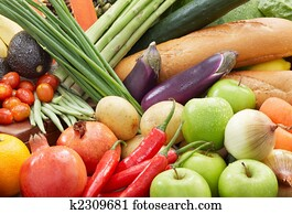 healthy foods background