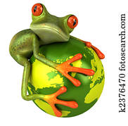Frog protects the world
