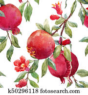 Pomegranate fruit pattern
