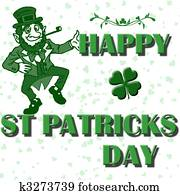 st patricks vector