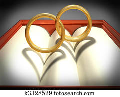 Interlocking wedding rings