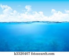 Waterline and underwater background