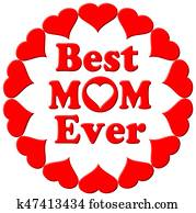 Best Mum Ever Hearts