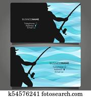Shop fishing business card