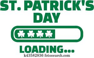St. Patricks day is Loading with green Loading bar