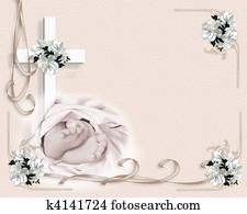 Baby Christening invitation