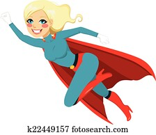 Super Hero Girl Flying