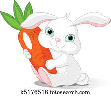 Rabbit holds giant carrot