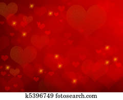 Valentine background - red hearts