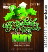 Typography St. Patricks Day poster.