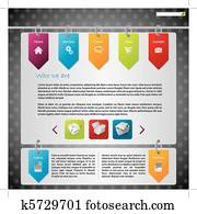 Hanging labels website design