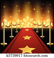 Red Carpet with Stars
