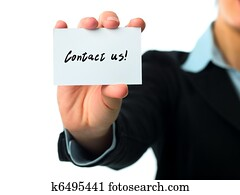 Contact us business card