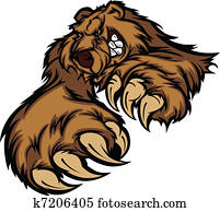 Grizzly Bear Mascot Body with Paws