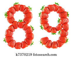 Strawberry alphabet - 8 9