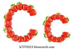 Strawberry alphabet - C