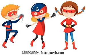 Set of super hero character