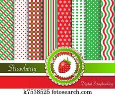 Strawberry digital scrapbooking