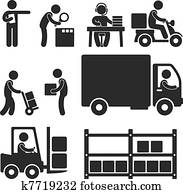 Logistic Warehouse Delivery Icon