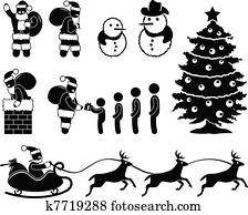weihnachten weihnachtsmann clipart k5037082 fotosearch. Black Bedroom Furniture Sets. Home Design Ideas