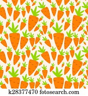 Carrot Seamless Pattern Background Vector Illustration