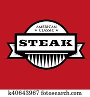 Steak - American Classic vintage stamp
