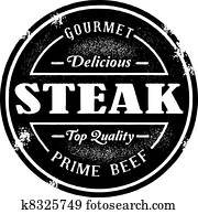 Vintage Style Steak Stamp