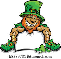 Smiling St. Patricks Day Leprechau