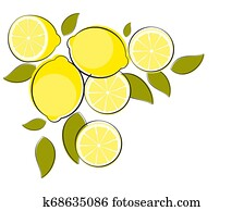 Abstract Lemon Natural Background Illustration