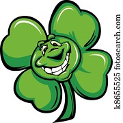 Happy Four Leaf Clover Shamrock Car