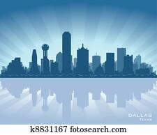 dallas,, texas, skyline