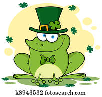 Leprechaun Frog With Background