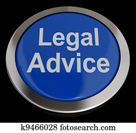 Legal Advice Button In Blue Showing Attorney Guidance
