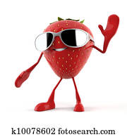 a strawberry character
