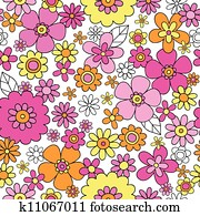 Flower Power Seamless Pattern