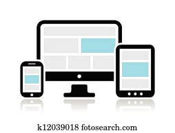 Responsive design for web- computer