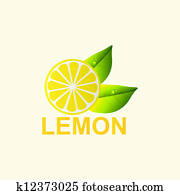 Vector. Fresh lemon.