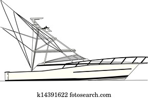 43' Viking sport fishing boat