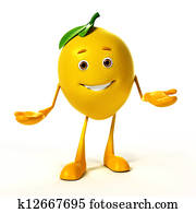 Food character - lemon