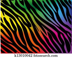 Rainbow zebra background