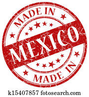 Made In Mexico red stamp