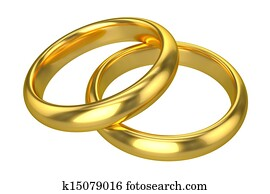 Realistic Wedding Rings - Gold